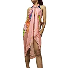 Xcellent Global Sarong Beach Cover Dress Swimsuit Bikini Wrap Scarf with Buckle
