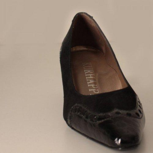 - Escarpins daim & cuir verni croco marque pointure -
