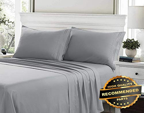 - Ellyly Premium New 100% Egyptian Cotton Deep Pocket Ultimate 4 Piece Bed Sheet Set Hypoallergenic | Style CMFTR-120222839 | King