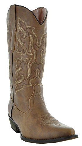 Country Love Pointed Toe Women's Cowboy Boots W101-1001 (10, Brown)