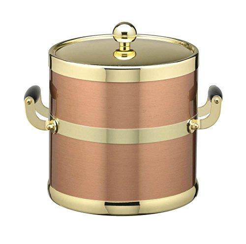 Kraftware Grant Signature Home Ice Bucket, 3 Quart, Copper
