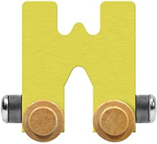 product image for Maple Landmark NameTrain Pastel Letter Car W - Made in USA (Yellow)