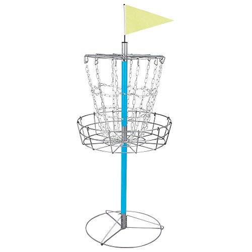Yaheetech Portable Disc Golf Basket - Lightweight Double Chains Portable Practice Target Steel Frisbee Hole Disc Golf Goals Catcher