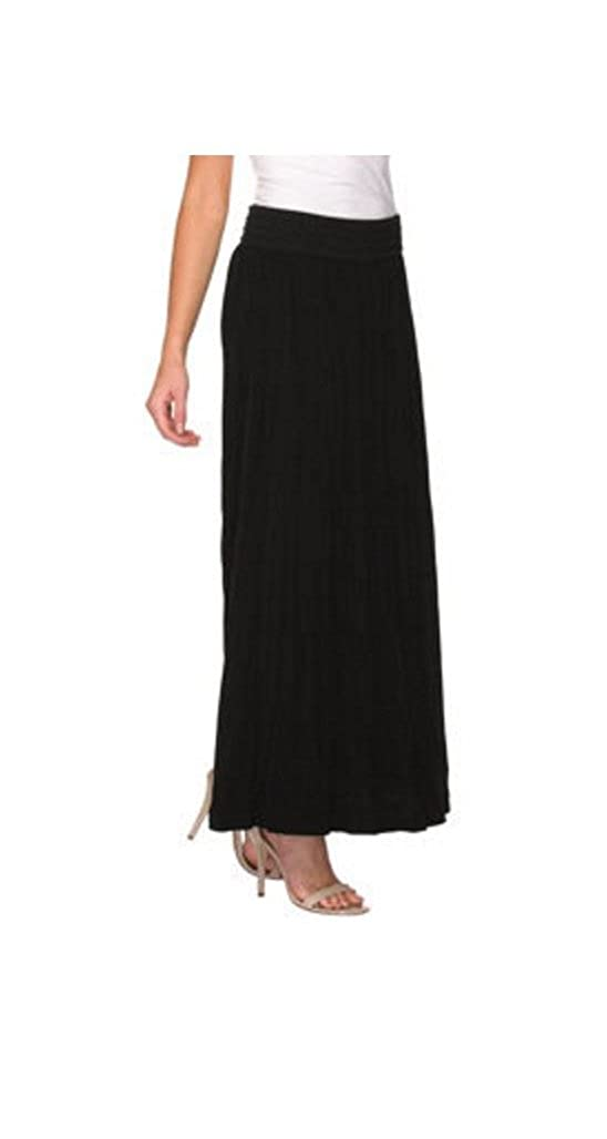 Lapis Ladies' Crinkle Skirt Black