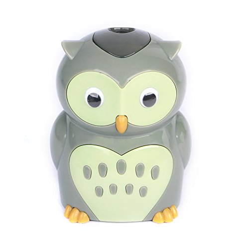 Eagle Cartoon Electric Pencil Sharpener, Battery Operated, Owl, Holiday Gift