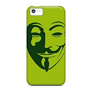 linfenglinGAwilliam Premium Protective Hard Case For Iphone 5c- Nice Design - Anonymous Mask