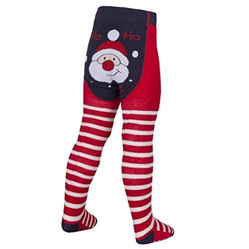 tick tock new baby novelty girls christmas tights xmas cotton snowman reindeer 6 12