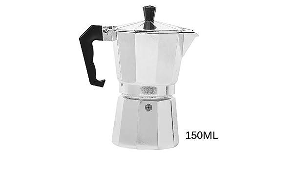 OurLeeme Moka Pot, Aluminio Espresso Latte Cafetera Tazas Percolator Filtro de café (3 Tazas)