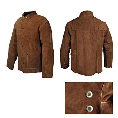 Welding Jacket, 30-Inch Full Length, Size Large