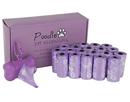 Poodle Pet Biodegradable Dog Poop Bags 400 Count | Earth Friendly, Leak Proof, Unscented | Recyclable Waste Pick-Ups…