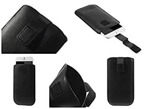 DFV mobile - Leather pouch case pocket sleeve bag with velcro > inew v3 plus, color funda negro