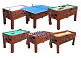 13 in 1 Combination Game Table in Cherry By Berner Billiards