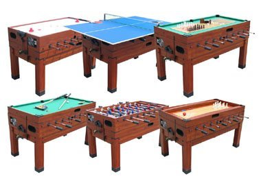 13 in 1 Combination Game Table in Cherry By Berner Billiards by Berner Billiards