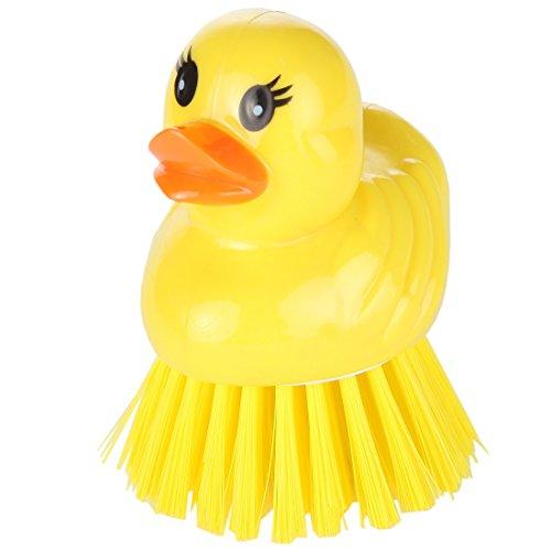 Home-X Animal Shape Kitchen Scrub Brush. Bright Yellow (Animal Kitchen)