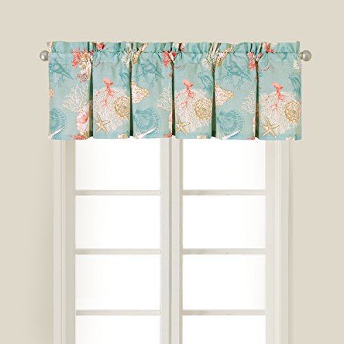 C&F Home 842841676 Santa Catalina Valance, Blue (Beachy Window Treatments)