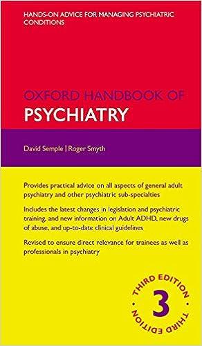 Oxford handbook of psychiatry 3e flexicover oxford medical oxford handbook of psychiatry 3e flexicover oxford medical handbooks amazon david semple roger smyth 9780199693887 books fandeluxe Gallery
