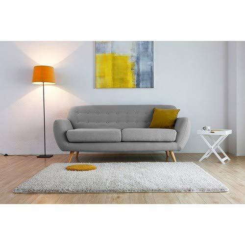 Mon Usine el Folke sofá escandinavo 3 plazas Fijo, Madera, Gris, 197 x 82 x 84 cm