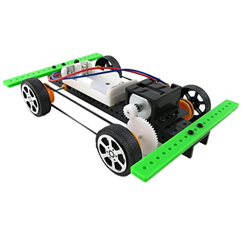 MonkeyJack DIY Mini Battery Powered Car Model Kit Children Kids Educational Gadget Gift