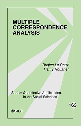 amazon multiple correspondence analysis quantitative applications