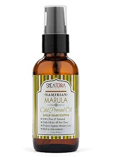Shea Terra Organics - Marula Oil- Anti-Aging Moisturiser For Skin , Face & Hair , Cold Pressed, Namibian 2 oz