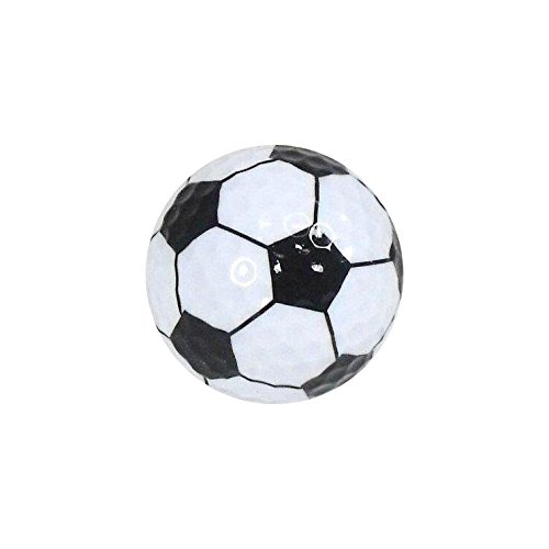 Golf Balls, Nitro Novelty Soccer Ball, 3 Pack (Nitro Pattern)