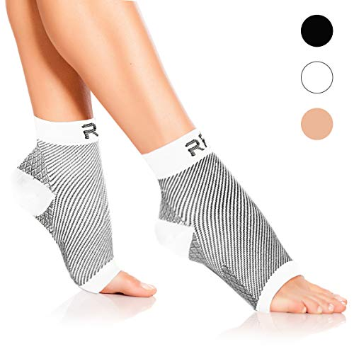 Plantar Fasciitis Foot Compression Sleeves for Injury Rehab & Joint Pain. Best Ankle Brace – Instant Relief & Support for Achilles Tendonitis, Fallen Arch, Heel Spurs, Swelling & Fatigue – Small