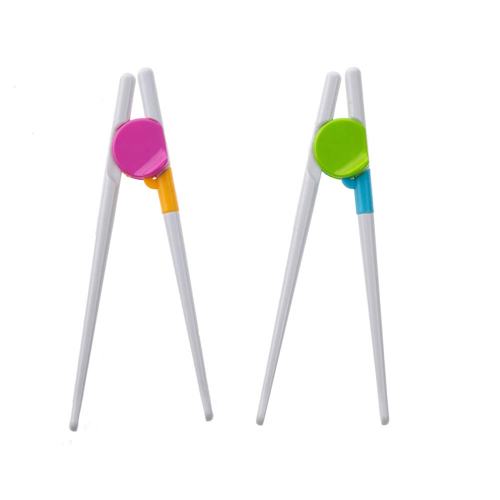 Baby Learning Chopsticks for Early Training Your Kids to Eat by Themselves (Random) 1Pair Xiton