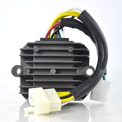 (Voltage Regulator For Honda CB650 CB750 Nighthawk / CB750C CB900C Custom / CB750K / CB750L Limited / CB750F CB900F CBX Super Sport / CB1000 / CB1100 1979-1985 Repl.# 31600-425-008 31600-MG5-000)