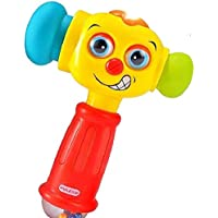 Smartcraft Hammer Toy with Light & Sound, Baby Toys Light& Musical Baby Hammer Toy , Funny Changeable Eyes Baby Hammer Toddler Toys