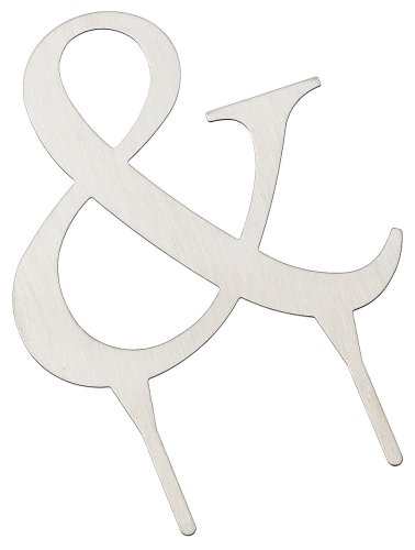 - Weddingstar 3 Inch H Brushed Silver Monogram - & Symbol