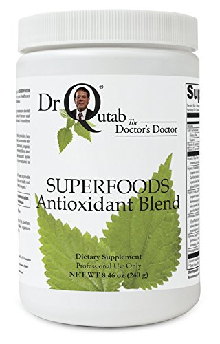 Superfoods Antioxidant Blend by Dr Qutab The Doctor's Doctor - Nutrient-Dense Superfoods, Fiber, Probiotic, Digestive Enzymes, Antioxidant-Rich Phytonutrients, Detoxification Support, Optimal pH - Noni Extract Standardized