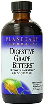 Planetary Herbals Digestive Grape Bitters, Supports Digestion, 8 Ounces (Pack of 2)