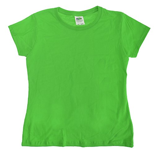 Kellys Kids Girls Shirt - Fruit of the Loom Big Girls Sofspun Short Sleeve T-Shirt (9-11) (Kelly Green)