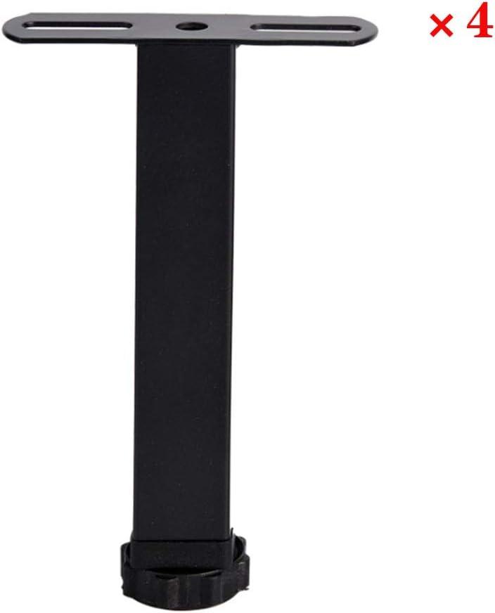 Ajustables para la mesa/cama y sofá/gabinete de los muebles Plantilla ortopédica de Pie de apoyo/servicio pesado fácil de instalar Bed Centro de Estructura de Soporte pata,4 Packs,15cm