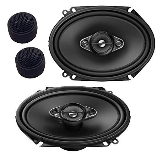 Pioneer TS-A6880F 4-Way 6x8 350 Watts Coaxial Speakers W/Free Pair of Tweeters ()