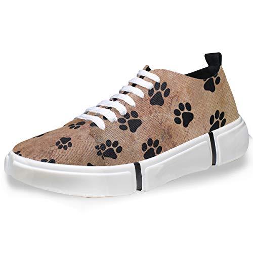 MONTOJ Animal Cat Dog Paw Print Men's Fashion Personality Sneakers