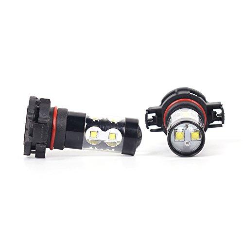 Alla Lighting 2504 PSX24W LED Fog Light Bulbs Super Bright PSX24W LED Bulb High Power 50W 12V LED PSX24W Bulb for 12276 2504 PSX24W Fog Light Bulbs Replacement, 6000K Xenon White (Set of 2) by Alla Lighting (Image #9)