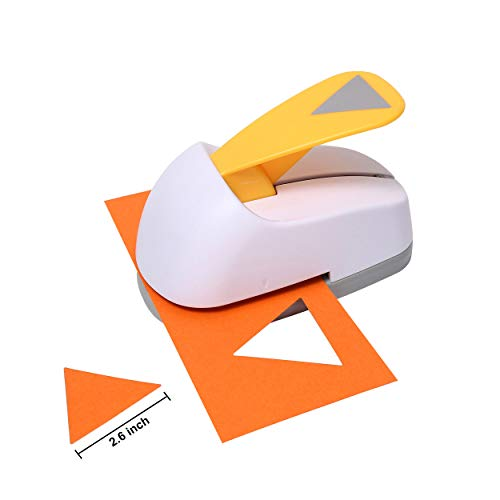 Craft Lever Punch 2.6 inch Triangle Punch DIY Handmade Paper Punch (White Triangle)
