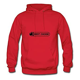 Stylish Regular Personalized Long-sleeve Daumen_best_choise___f1 Women X-large Red Hoody