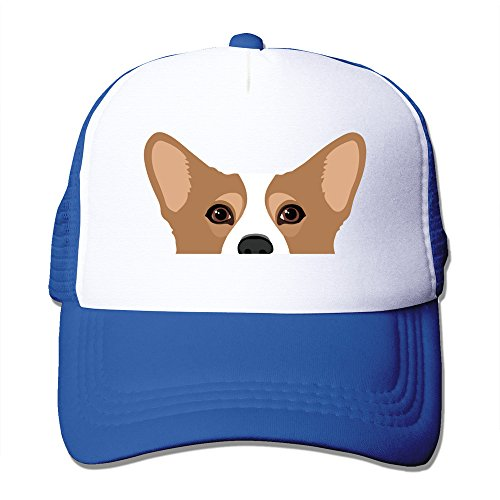 WZN Cute Corgi Dog Art Print Baseball Caps With RoyalBlue