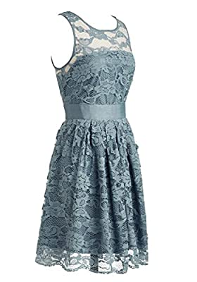 Wedtrend Women's Floral Lace Dress Bridesmaids Dress Short Prom Dress