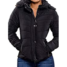 YMI New Outerwear Fashion Thick Black Puffer Jacket Hoodie Coat