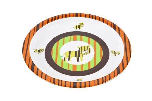 Lässig Dish Plate Melamin Teller aus 100% Melamin BPA-frei, Wildlife - Tiger
