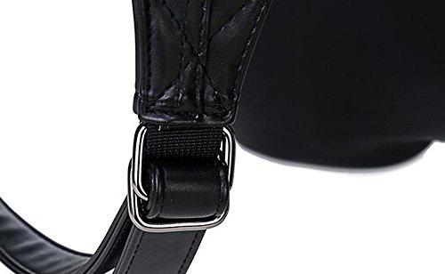 de Diseño Niña para Bandolera Talla Mujer única Gris Punk Búho negro Bolso XqSOTHRxw