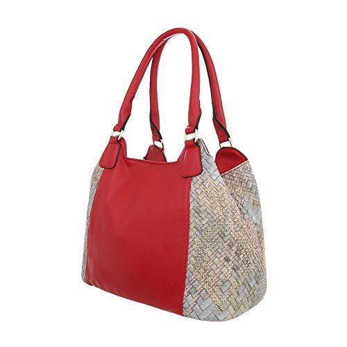 Sintético Design mujer Ital Rojo hombro al para de Bolso czZ7TqH7xX