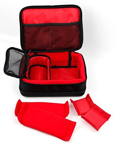 DURAGADGET Red & Black Protective EVA Carry Case - Compatible with Logitech H340 | G231 Prodigy | G533 Wireless Gaming Headset | G633 Artemis Spectrum Pro & G933 Artemis Spectrum