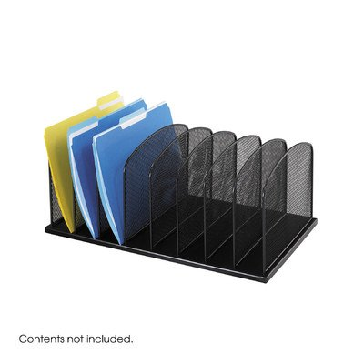 Safco 8 Compartment Mesh (SAF3253BL - Safco Mesh Desk Organizer)