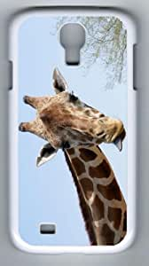 Samsung Galaxy S4 I9500 Giraffe Case/Cover, White PC Case for I9500