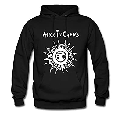 Cheap Alice in Chains fashion logo Hot Men's Hoodie Black for sale