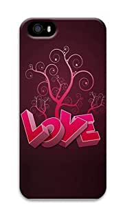 3D Heart And Tree Polycarbonate Hard 3D Case Cover for iPhone 5 and iPhone 5S